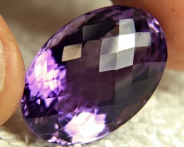 CERTIFIED - 30.91 Carat Cushion Cut Amethyst - Gorgeous
