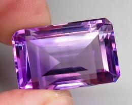 23.33 ct. Natural Top Nice Purple Amethyst Unheated Brazil - IGE Сertified