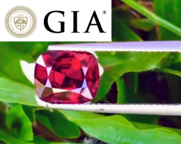 NR! GIA Certified 3.84 CT Pigeon's Blood Red Jedi Spinel (Burma) $21,650