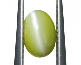 1.99 ct Oval Cabochon Chrysoberyl Cat's Eye IGI Certified