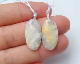 16ct Natural moonstone earring beads  semi-precious stones (A124)