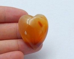 59.5ct Natural agate heart shape  cabochon beads  semi-precious stones (A13