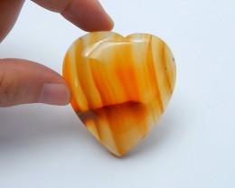 226ctS Natural agate heart shape  cabochon beads  semi-precious stones(A128