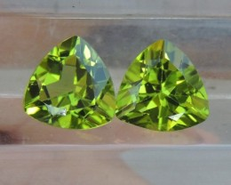 9mm  Peridot,  Untreated,  Calibrated