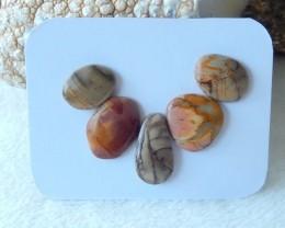 26cts Natural multi color jasper cabochon beads semi-precious stones(A106)