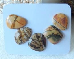 40cts Natural multi color jasper cabochon beads semi-precious stones (A105)