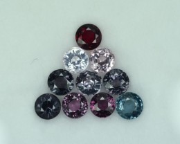 6.96 Cts Fabulous Attractive 5mm Round Spinel Parcel