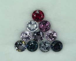 7.04 Cts Wonderful Burmese Lustrous 5mm Round Spinel Parcel