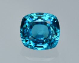 5.32 Cts Dazzling Attractive Cushion Blue Zircon
