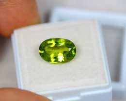 3.92ct Green Peridot Oval Cut Lot GW2616
