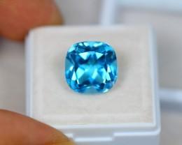 8.86Ct Swiss Blue Topaz Cushion Cut Lot LZB447