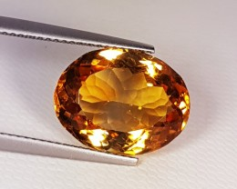 """8.10 ct """"Top Grade Gem"""" Awesome Oval Cut Top Luster Citrin"""