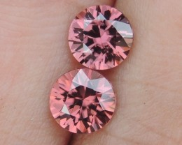 2.26cts Pink  Zircon,  Top Cut,  Clean,  Unheated