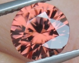 2.27cts Pink  Zircon,  Top Cut,  Clean,  Unheated