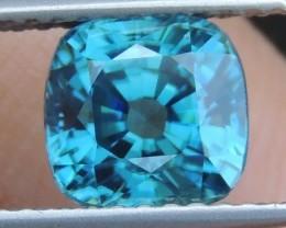 2.63cts,  Blue Zircon,