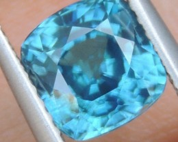2.65cts,  Blue Zircon,  Eye Clean, Calibrated
