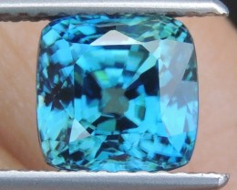 3.78cts,  Blue Zircon,  Eye Clean, Calibrated