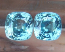 4.81cts, Blue Zircon,  Eye Clean, Calibrated