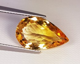 "6.92 ct ""Top Quality Gem"" Beautiful Pear Cut Top Luster Citrin"