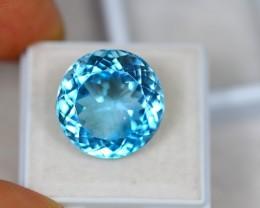 21.46Ct Swiss Blue Topaz Round Cut Lot B51
