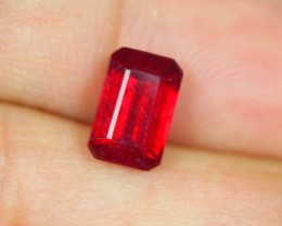 2.56ct Blood Red Color Ruby Octagon Cut Lot V2629