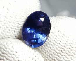 UNHEATED CERTIFIED 2.10 CTS NATURAL BEAUTIFUL VIOLETISH BLUE SAPPHIRE CEYLO