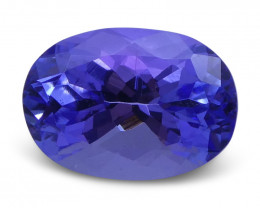 2.79 ct Oval Tanzanite IGI Certified With Laser Inscription