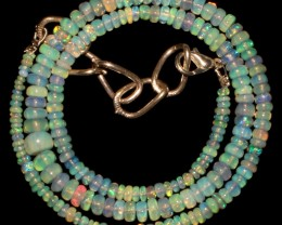 46 Crts Natural Ethiopian Welo Fire Opal Beads Necklace 10