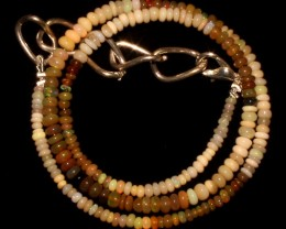 29 Crts Natural Ethiopian Welo Fire Opal Beads Necklace 11