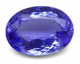 4.26 ct Oval Tanzanite IGI Certified With Laser Inscription