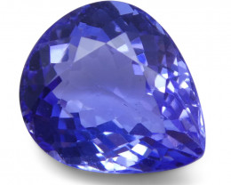 2.7 ct Pear Tanzanite IGI Certified With Laser Inscription