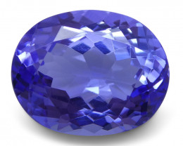 3.35 ct Oval Tanzanite IGI Certified With Laser Inscription