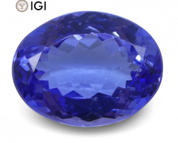 2.8 ct Oval Tanzanite IGI Certified With Laser Inscription