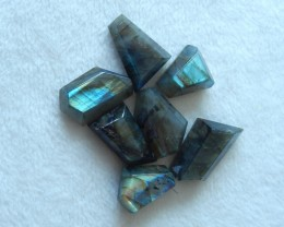 143cts Natural labradorite cabochon beads semi-precious stones (A107)