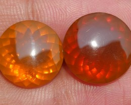 10.75 CRT INDONESIAN FIRE OPAL PAIR BEAUTY COLOR