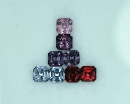 2.04 Cts Beautiful Natural Burmese Spinel 8Pc Parcel