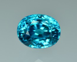 9.11 Cts Magnificent Attractive Lustrous Blue Zircon