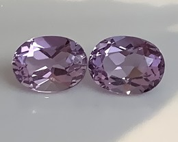 TOP VIOLET SHINING AMETHYST PAIR - VVS -  8 X 6.00mm NR