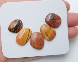 30cts Natural multi color jasper cabochon beads wholesale (A156)