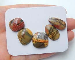 40cts New natural multi color jasper cabochon beads wholesale (A154)