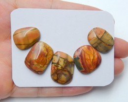 39cts Sale natural multi color jasper cabochon beads (A147)