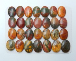193.5cts Wholesale natural multi color jasper  cabochon beads(A148)