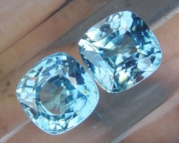 4.78cts,  Blue Zircon,  Eye Clean, Calibrated