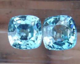 5.05cts, Blue Zircon,  Eye Clean, Calibrated
