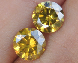 2.41cts,Yellow Diamond Pair,   Top Quality,  High End Stones