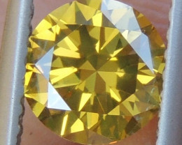 1.01cts, Yellow Diamond,   Top Quality,  High End Stone