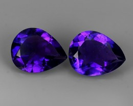 3.70 CTS SUPERIOR! TOP PURPLE-VIOLET-AMETHIYST GENUINE PEAR SHAPE NR!!!