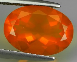 3.55 CTS TOP COLOR EXTREME SPARKLING WONDER LUSTROUS GENUINE FIRE OPAL!!!