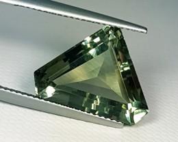"""8.90 ct """"Top Quality Gem"""" Fancy Triangle Cut Mint Green Amethyst"""