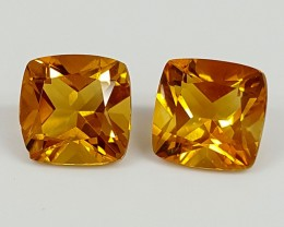 3.10Crt Madeira Citrine Pair  Best Grade Gemstones JI115